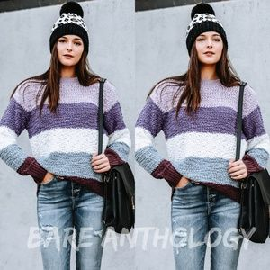 Popcorn Colorblock Sweater